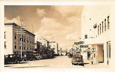 Fairbanks AK Street View Store Fronts Old Cars RPPC Postcard