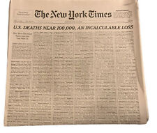 NYT The New York Times Newspaper Sunday May 24 2020 U.S. DEATHS NEAR 100,000 NEW
