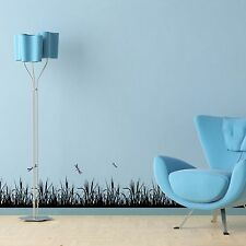 DRAGONFLY GRASS Wall Border Decals Black Room Decor Bedroom Decoration Wallpaper