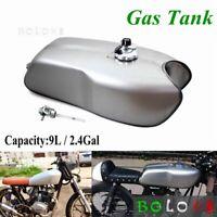 Motorcycle 9L 2.4 Gallon Vintage Fuel Gas Tank Set For Honda CG125 Cafe Racer