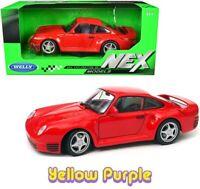 Welly 1:24 Porsche 959 Diecast Model Car Red 24076