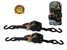 Reese Ratchet Tie Down Pair Anchor Retractable Transom Trailer Boat Hook Strap 6