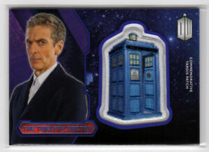 Topps Doctor Who 2015 12th Twelvth Doctor Purple Tardis Patch Card 73/99