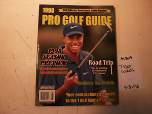 3/30/98 Pro Golf Guide Tiger Woods Gold Collectors 1998 Review Duval Mickelson
