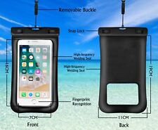 Waterproof Cell Phone Pouch Touch ID Recognition for Smartphone up to 6.5""