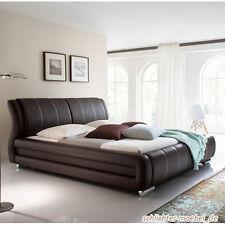 BOLZANO Polsterbett Kunstlederbett Bett Designerbett Design - 180 x 200 cm Braun