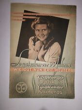 """ORIG. Prospekt Kamera  1939 VOIGTLÃ""""NDER  BRILLIANT BESSA  BRAUNSCHWEIG"""