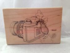 Stampendous House Mouse Say Cheese Photographer camera Maxwell Rubber Stamp