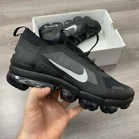 NIKE AIR VAPORMAX 2019 UTILITY BLACK GREY TRAINERS SIZE UK9.5 US10.5 EUR44.5