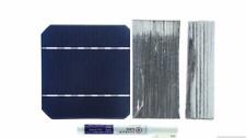 KIT pannello solare 100Watt con 40 celle monocristalline 5x5 e collegamenti