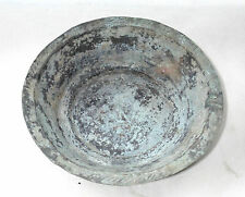 ANTIQUE OLD PRIMITIVE 18th C. OTTOMAN ISLAMIC HAND HAMMERED COPPER DISH PLATE #2