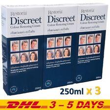 250ml x 3 Restoria Discreet Hair Colour Restoring Cream Gradually Care Styling