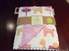 Surina Girls Cot Comforter by Lolli Living NEW Quilted  95 x 110cm RRP $59.95
