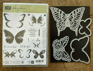 Stampin Up New WATERCOLOR WINGS Stamp Set, BUTTERFLIES Dies beautiful Butterfly