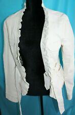 Solitaire Faux Leather White Coat Jacket Size Women's Medium