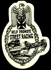 Hot Rod Sticker Help Promote Street Racing Ed Roth Drag Race Motorcycle