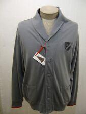 Daniel Cremieux Mens Cardigan Shawl L Sweater Button Collar Cotton Pocket Grey L