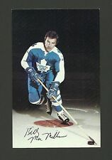 Billy MacMillan Vintage Toronto Maple Leafs 1970s Hockey Postcard