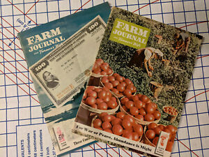 Vintage Farm Journal Magazines- Sept 1943/July 1944-WWII-RARE-great condition!