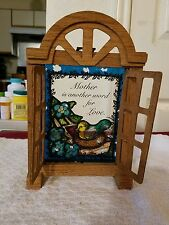 """""""Mother Is Another Word For Love"""" Window Wall Decor, Glass And Stain Glass"""