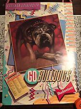 Vintage 1987 Gonzaga University Basketball Schedule/Calendar Poster - Budweiser