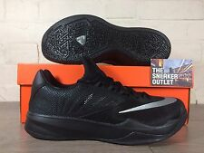 Men's Nike Zoom The un tamaño de Reino Unido 8 Run entrenadores // Triple Negro Zapatos Kobe Lebron