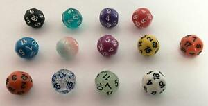Impact Elfball Dice d18 - Complete Set of all 13 Colors! New