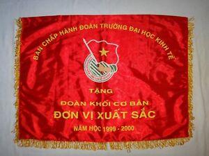 Socialiste Republic Vietnam Economie Collège Award Drapeau À Best Unit 1999-2000
