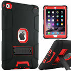 For iPad Air 2 Hybrid Shockproof Rugged Case Triple-Layer with Kickstand A1567
