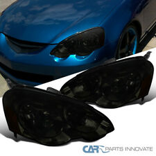 For 02-04 Acura RSX DC5 Smoke Headlights Tinted Head Lights Lamps Left+Right