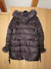 Winterjacke Daunenjacke Jacke Pelz Fell Kapuze schwarz Gr. L NEU