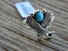 ladies ring size 6, 8, or 9 Sterling silver Navajo blue turquoise full eagle