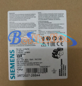 1PC Siemens CONTACTOR 3RT2027-2BB44 New
