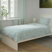 New TRADKRASSULA Single Quilt/Duvet Cover & Pillowcase, White/Green *Brand Ikea*
