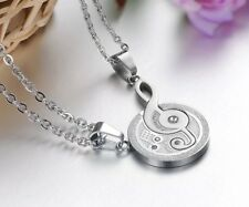 Stainless Steel Musical I Love You Couples Matching Pendant Necklace Music Note