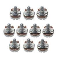 10PCS Full Size Tone A250K Guitar Pots Short Split Shaft Guitar Potentiometer