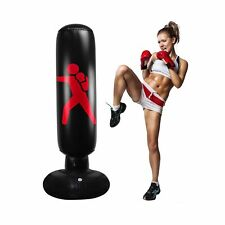Qiqu Kids Punching Bag,63inch Inflatable Kids Punching Bag with Stand Free St.