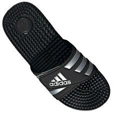 Adidas Adilette Bath Shoes Flip Flops Adissage Touch Fastener Black Silver