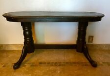 Vintage Sofa Table in Distressed Black Solid Wood Finish