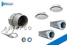 200mm Airefco Inline Fan Kit - lndustrial fan 200 - Heat Transfer Kit