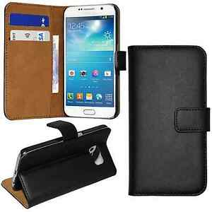 Slim Flip Black Leather Wallet Case Cover for Samsung Galaxy S6 Edge