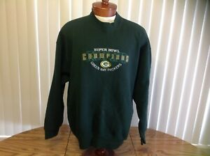 Green Bay Packers VTG Sweatshirt Green Embroidered Logo 2XL Pro Player