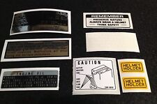 HONDA CB750 FOUR K1 K2 1971-1972 WARNING KIT DECALS.