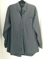 Nordstrom Mens XL  Plaid Button Front Long Sleeve Casual Shirt Smartcare