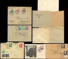 GERMANY 1935-43 SPECIAL CANCELS + MULTI FRANKINGS...5 ITEMS