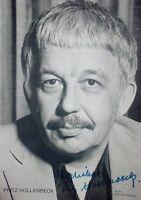 FRITZ HOLLENBECK -  orig Autogramm-Karte hand-signiert ca 1960 - 1965