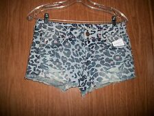 NWT AMERICAN EAGLE LEOPARD PRINT SHORTIE SHORTS SIZE 0