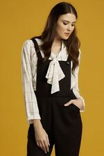 Polyester Check Long Sleeve Button Down Shirt Tops & Blouses for Women