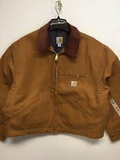 "Carhartt J001-BRN Detroit Duck ""MADE IN THE AMERICA"" Blanket Lined Jacket 2XL"