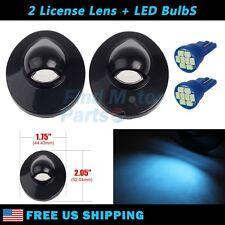 2x Bumper License Plate Lens & 8 SMD Ice Blue LED Light for Ford Pickup Trucks